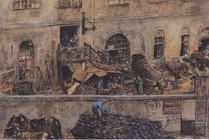 Rudolf Von Alt - The iron foundry in Kitschelt Skodagasse in Vienna