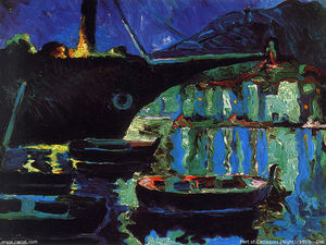 Salvador Dali - Port of Cadaques (Night)