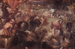 Tintoretto (Jacopo Comin) - The battle of the Taro