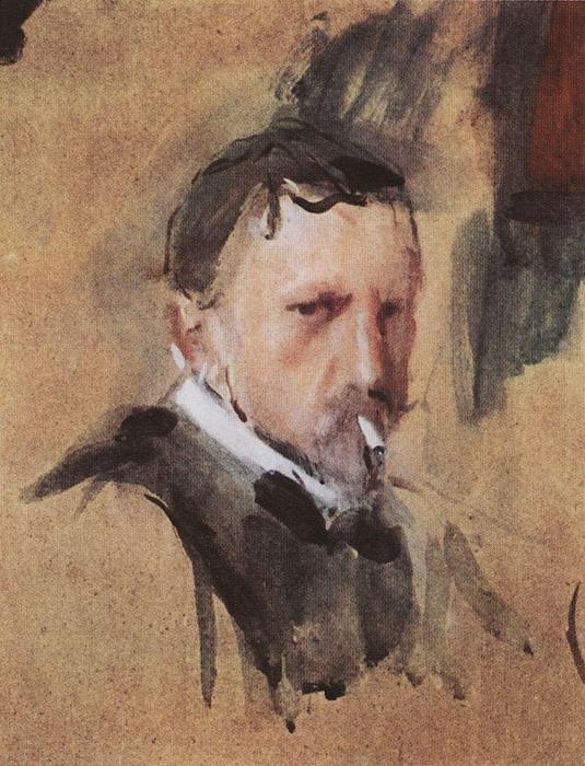 famous painting Self Portrait of Valentin Alexandrovich Serov