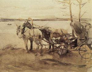 Valentin Alexandrovich Serov - At the ferry