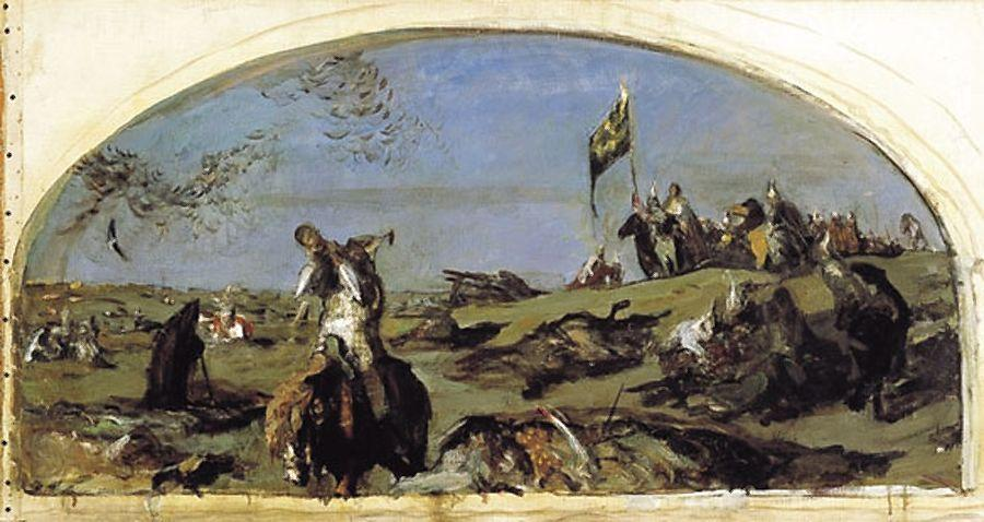 famous painting After the Battle of Kulikovo of Valentin Alexandrovich Serov