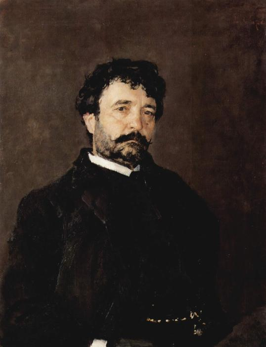 famous painting Portrait of the Singer Angelo Mazini of Valentin Alexandrovich Serov