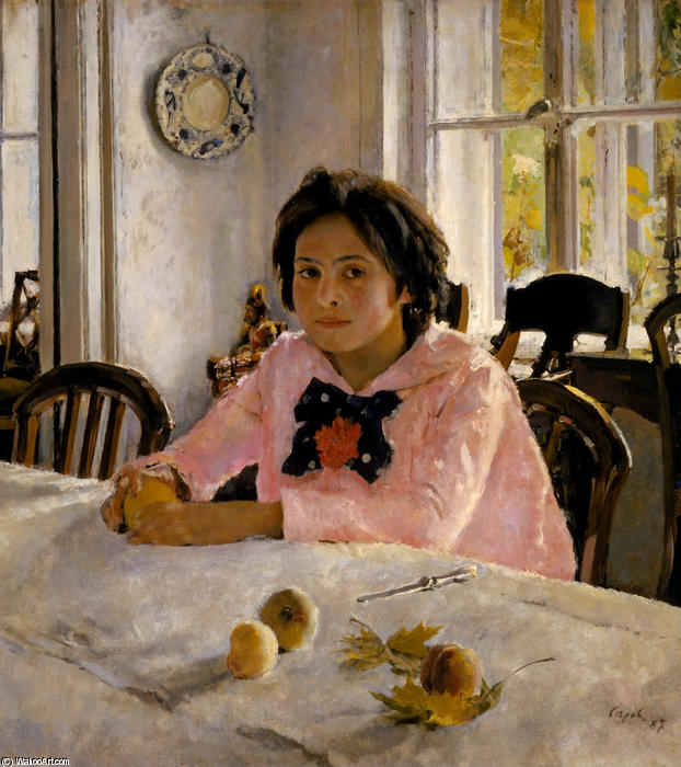 famous painting Girl with Peaches of Valentin Alexandrovich Serov