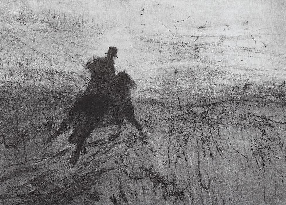 Order Reproductions Impressionism | Pushkin in the village by Valentin Alexandrovich Serov | TopImpressionists.com