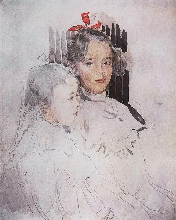 famous painting Portrait of Children of S. Botkin of Valentin Alexandrovich Serov