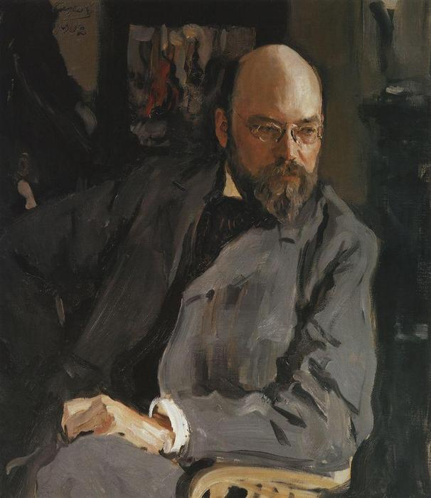 famous painting Portrait of the Artist I.S. Ostroukhov of Valentin Alexandrovich Serov