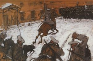 Valentin Alexandrovich Serov - Soldiers, oldiers, Heroes Every One
