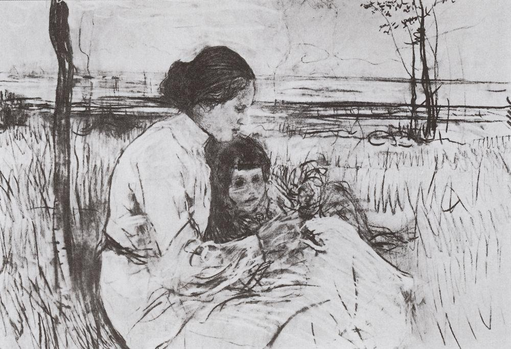 famous painting Children of the artist. Olga and Anton Serov of Valentin Alexandrovich Serov