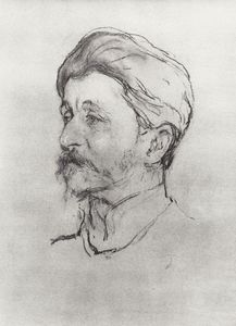Valentin Alexandrovich Serov - Portrait of the Artist M.A. Vrubel