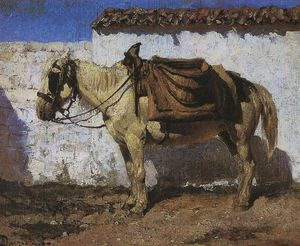 Vasily Dmitrievich Polenov - White Horse. Normandy.