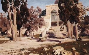 Vasily Dmitrievich Polenov - The Mosque of Omar. Haram el-Sharif.
