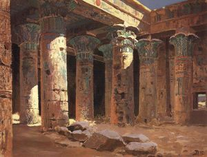 Vasily Dmitrievich Polenov - The Temple of Isis on Philae island