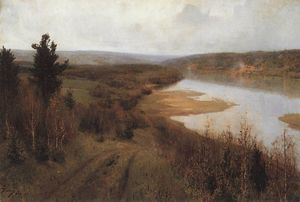 Vasily Dmitrievich Polenov - Getting cold. Autumn on the Oka River near Tarusa.