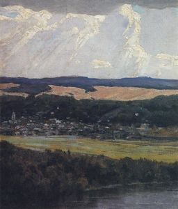 Vasily Dmitrievich Polenov - View of Tarusa from high Oka bank