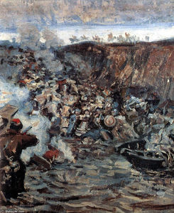 Vasili Ivanovich Surikov - 'Study to ''The Conquest of Siberia by Yermak'''