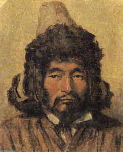 Vasily Vasilevich Vereshchagin - Kazakh with fur hat