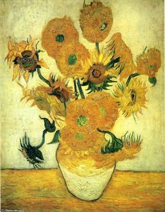 Vincent Van Gogh - Still Life - Vase with Fourteen Sunflowers