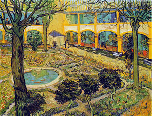Vincent Van Gogh - The Courtyard of the Hospital in Arles