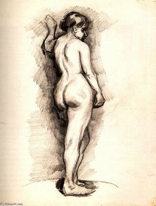 Vincent Van Gogh - Standing Female Nude Seen from the Back