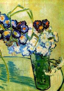 Vincent Van Gogh - Still Life Glass with Carnations