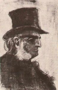 Vincent Van Gogh - Orphan Man with Top Hat, Head