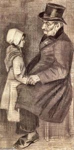 Vincent Van Gogh - Orphan Man, Sitting with a Girl