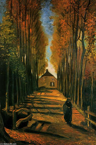 Vincent Van Gogh - Avenue of Poplars at Sunset