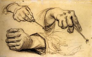 Vincent Van Gogh - Three Hands, Two Holding Forks