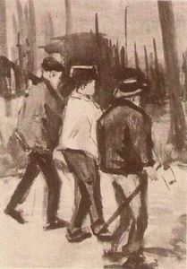 Vincent Van Gogh - Three Woodcutters Walking