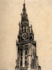 Vincent Van Gogh - The Spire of the Church of Our Lady