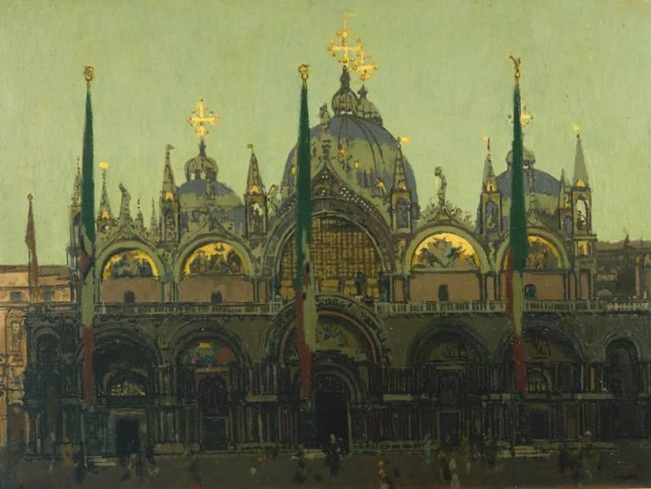 famous painting St. Mark's, Venice of Walter Richard Sickert