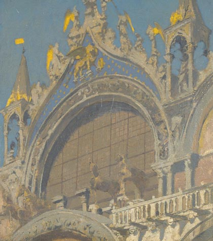 famous painting Horses of St. Mark's, Venice of Walter Richard Sickert