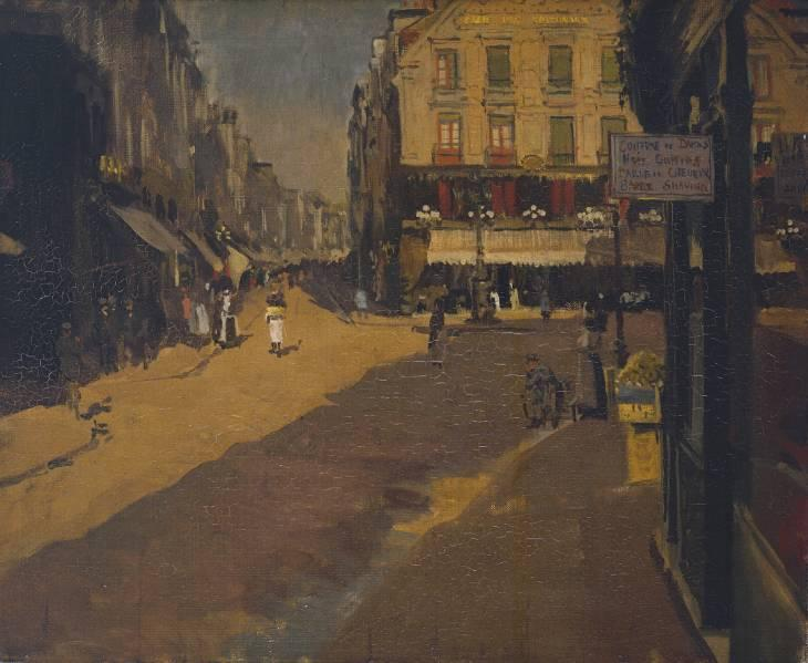 famous painting Cafe of the Courts, Dieppe of Walter Richard Sickert