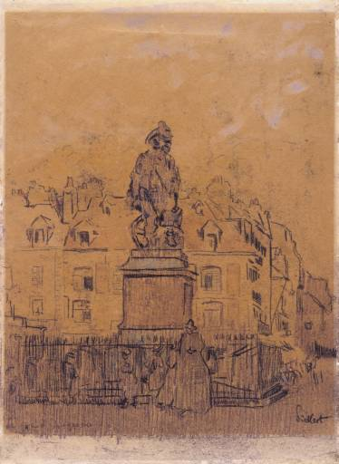 famous painting Sketch for `The Statue of Duquesne, Dieppe' of Walter Richard Sickert