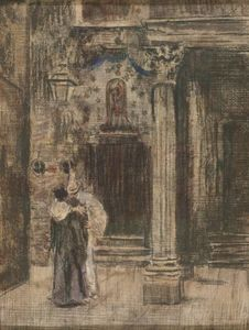 Walter Richard Sickert - Pierrot and Woman Embracing