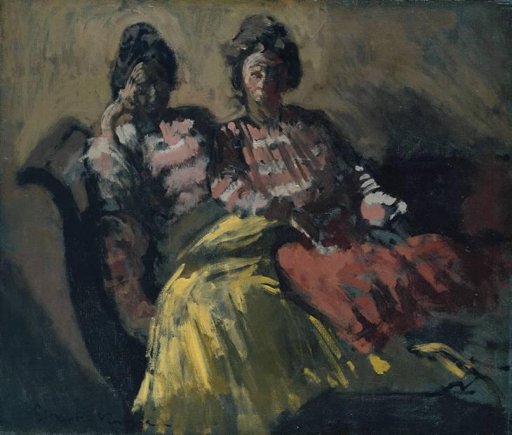 famous painting Two Women on a Sofa of Walter Richard Sickert