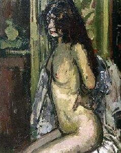 Walter Richard Sickert - Seated Nude, Paris