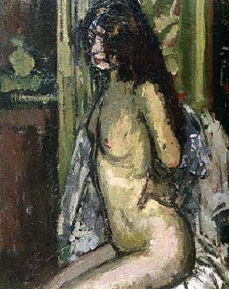 famous painting Seated Nude, Paris of Walter Richard Sickert