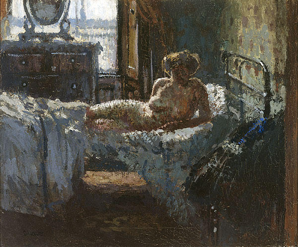 famous painting Mornington Crescent nude, contre-jour of Walter Richard Sickert