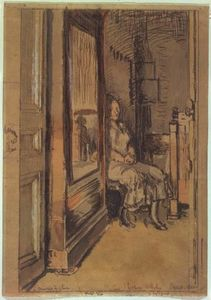 Walter Richard Sickert - Study for `The wardrobe'