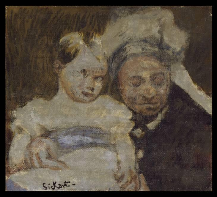 famous painting Queen Victoria and her great-grandson of Walter Richard Sickert
