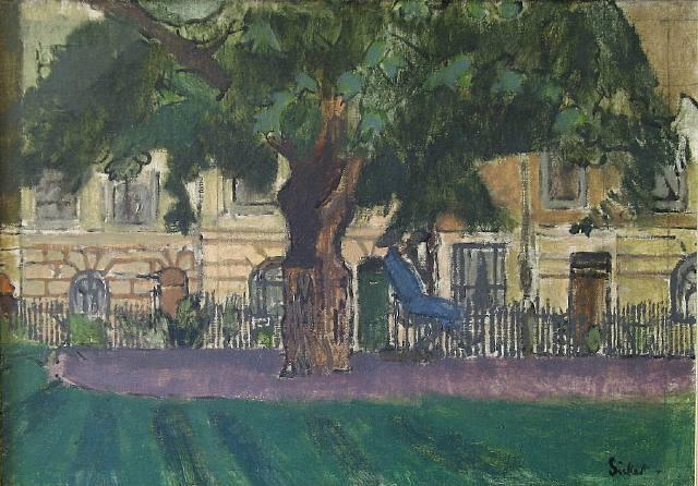 famous painting Clarence Gardens, Camden Town of Walter Richard Sickert