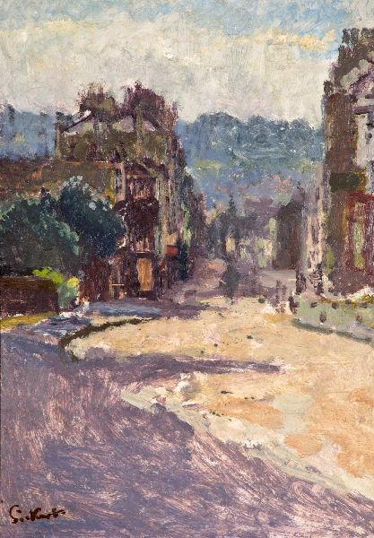 famous painting View of Bath from Belvedere of Walter Richard Sickert