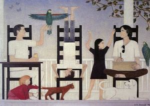 Will Barnet - Three Chairs II