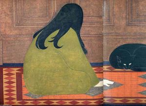 Will Barnet - Dialogue in Green
