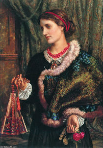 William Holman Hunt - The Birthday (A Portrait Of The Artist's Wife, Edith)