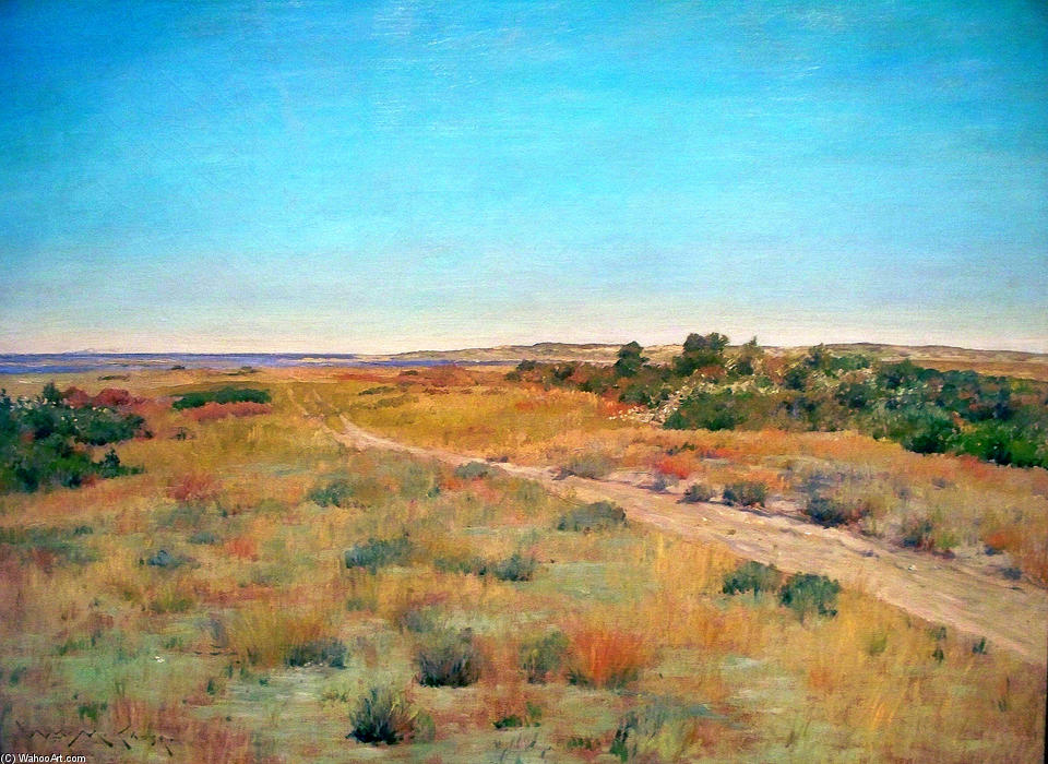 famous painting First Touch of Autumn of William Merritt Chase