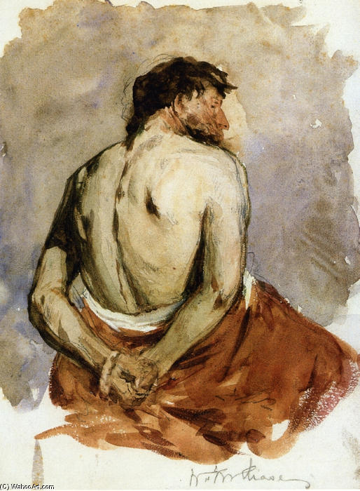 famous painting Back of a Male Figure of William Merritt Chase