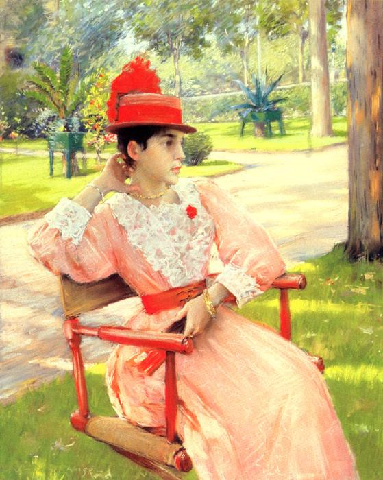 famous painting Afternoon In The Park of William Merritt Chase